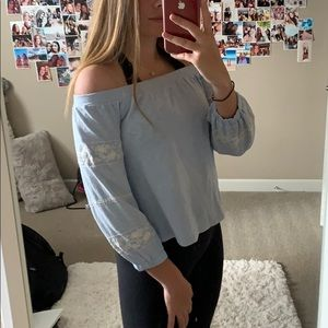 American Eagle Off The Shoulder Crop Top